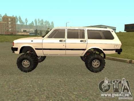 31022 Volga gaz 4 x 4 pour GTA San Andreas sur la vue arrière gauche