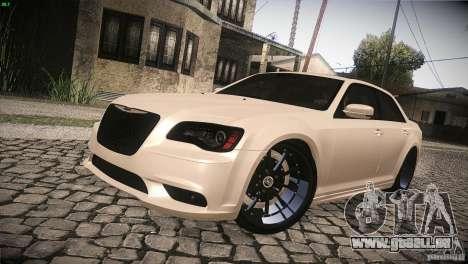 Chrysler 300 SRT8 2012 pour GTA San Andreas vue de dessus