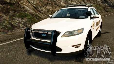 Ford Taurus 2010 CCSO Police [ELS] für GTA 4