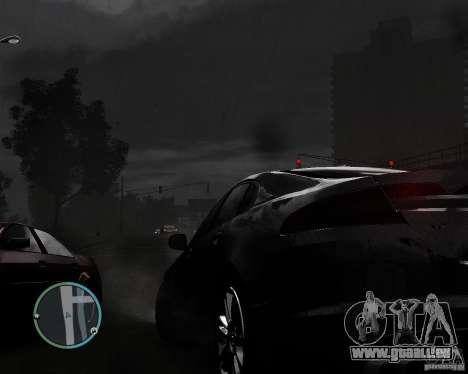 Jaguar XF-R pour GTA 4 est une vue de l'intérieur