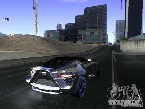 Bertone Mantide pour GTA San Andreas sur la vue arrière gauche