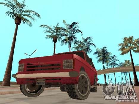 Le nouveau Huntley pour GTA San Andreas vue intérieure