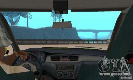 Mitsubishi Lancer Evo The Fast and the Furious 2 für GTA San Andreas Rückansicht