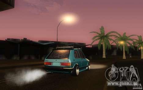 Volkswagen Golf GTI rabbit euro style pour GTA San Andreas vue arrière