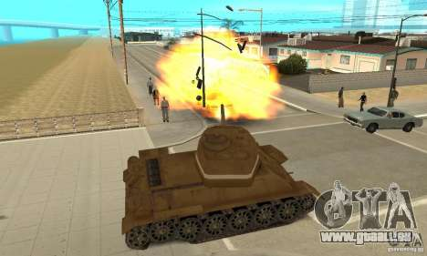 Réservoir T-34 pour GTA San Andreas vue de droite