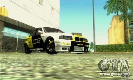 BMW E36 Urban Perfomance Garage pour GTA San Andreas vue de droite