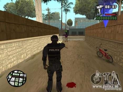 Commando de la SWAT 4 pour GTA San Andreas cinquième écran