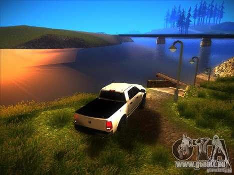 Dodge Ram Heavy Duty 2500 pour GTA San Andreas vue intérieure