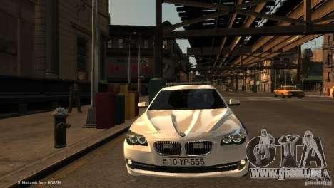 BMW 550i Azeri Police YPX für GTA 4 Seitenansicht
