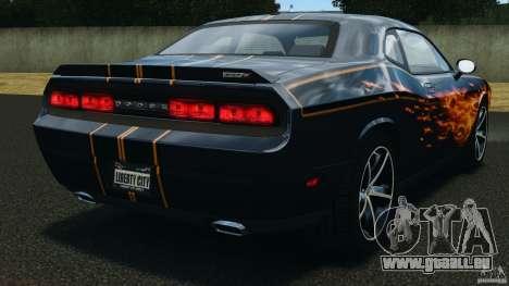 Dodge Challenger SRT8 392 2012 pour GTA 4 Vue arrière de la gauche