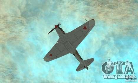 Yak-9 pendant la seconde guerre mondiale pour GTA San Andreas vue de côté