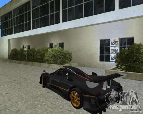 Pagani Zonda R pour une vue GTA Vice City de la droite
