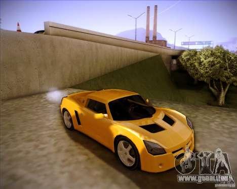 Opel Speedster pour GTA San Andreas sur la vue arrière gauche