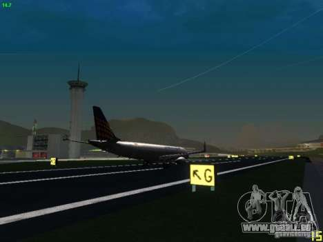 Embraer ERJ 190 Lufthansa Regional für GTA San Andreas Rückansicht