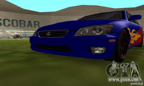 Lexus IS300 pour GTA San Andreas vue de côté