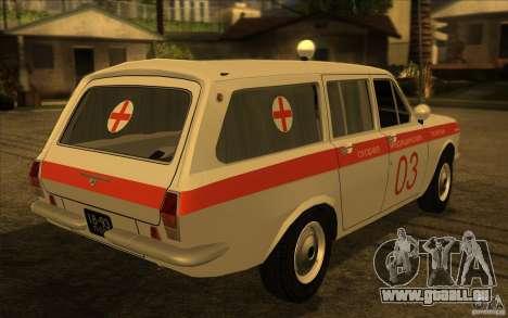 Ambulance Volga GAZ-24 03 pour GTA San Andreas laissé vue