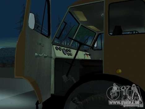 Camion à benne MAZ 503 a pour GTA San Andreas vue arrière