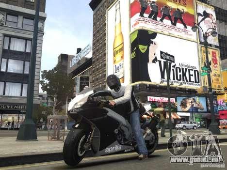 Aprilia RSV-4 Black Edition pour GTA 4