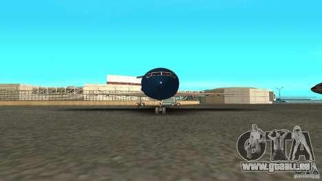 Boeing 727-200 Final Version für GTA San Andreas zurück linke Ansicht
