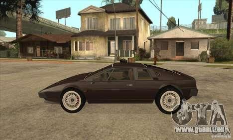 Lotus Esprit S3 für GTA San Andreas linke Ansicht