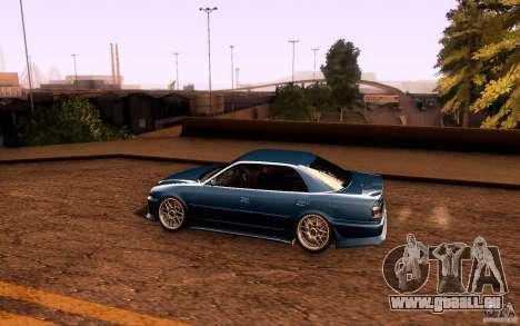 Toyota Chaser JZX100 pour GTA San Andreas vue de dessous