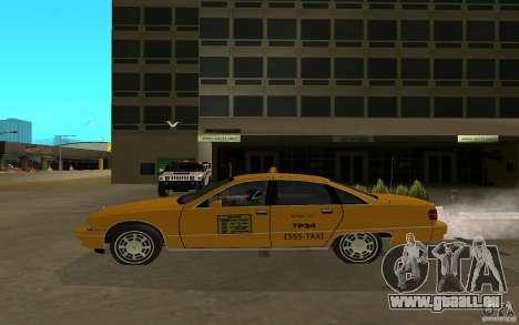 Chevrolet Caprice taxi für GTA San Andreas zurück linke Ansicht