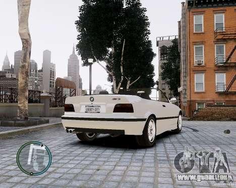 BMW M3 e36 1997 Cabriolet pour GTA 4 Vue arrière de la gauche
