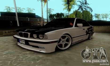 BMW E34 540i Tunable pour GTA San Andreas vue de droite