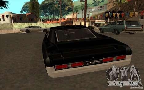 Ducs de GTA4 pour GTA San Andreas sur la vue arrière gauche
