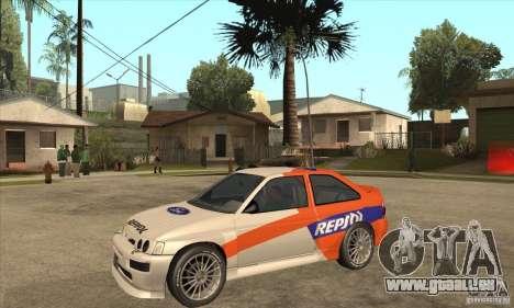 Ford Escort RS Cosworth pour GTA San Andreas laissé vue