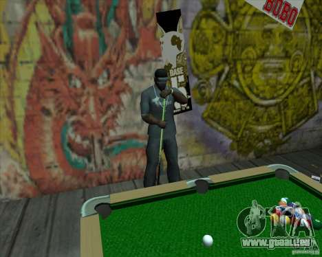 Nouvelle table de billard pour GTA San Andreas