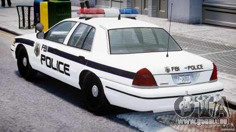 Ford Crown Victoria FBI Police 2003 pour GTA 4 est un droit