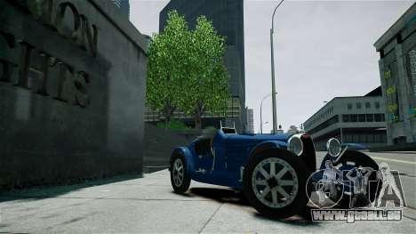 Bugatti Type 35C für GTA 4 Seitenansicht