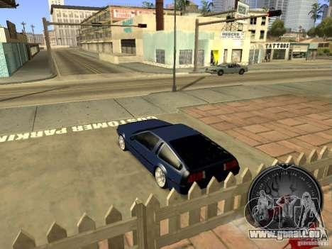 Delorean DMC-12 Drift pour GTA San Andreas vue de droite