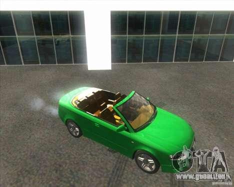 Audi A4 Convertible 2005 pour GTA San Andreas vue arrière