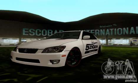 Lexus IS300 für GTA San Andreas Rückansicht