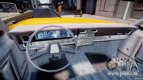Chevrolet Impala Taxi 1983 [Final] für GTA 4 Rückansicht