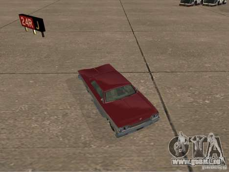Vaudou de GTA 4 pour GTA San Andreas vue arrière