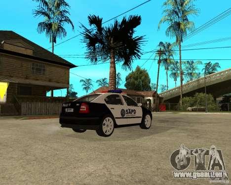 Skoda Octavia II 2005 SAPD POLICE für GTA San Andreas rechten Ansicht