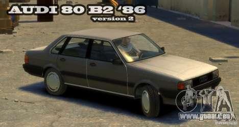 Audi 80 B2 1986 v 2.0 pour GTA 4