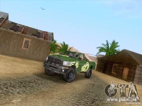 Dodge Ram Trophy Truck für GTA San Andreas Rückansicht