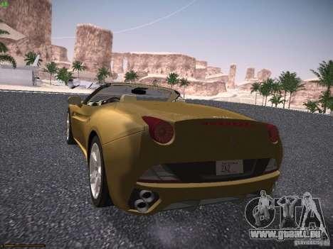 Ferrari California pour GTA San Andreas sur la vue arrière gauche