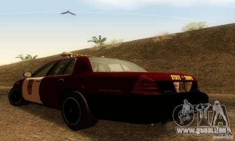 Ford Crown Victoria Minnesota Police pour GTA San Andreas laissé vue
