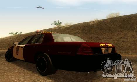 Ford Crown Victoria Minnesota Police für GTA San Andreas linke Ansicht