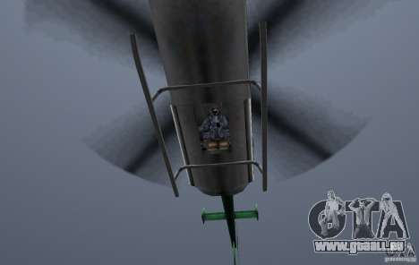 VCPD Chopper pour GTA Vice City vue arrière