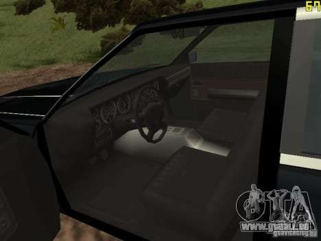 Römische ist Taxi von GTA 4 für GTA San Andreas rechten Ansicht