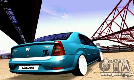 Dacia Logan 2008 pour GTA San Andreas vue de côté