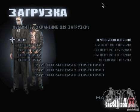 Bildschirme von Mafia 2 laden für GTA San Andreas her Screenshot