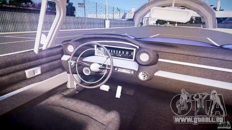 Cadillac Eldorado 1959 interior black für GTA 4 Unteransicht