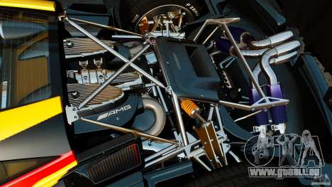 Pagani Huayra 2011 [EPM] pour GTA 4 est une vue de l'intérieur